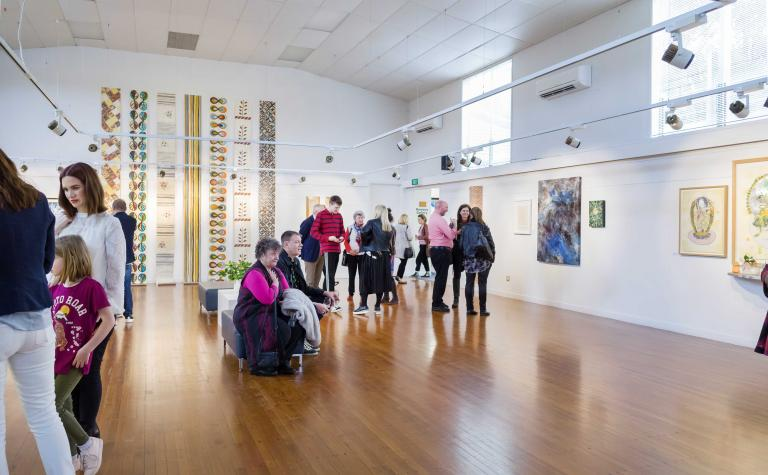 Exhibition view of Building Bridges at Mairangi Arts Centre, Auckland, 2018. Image copyright and courtesy of Artsdiary
